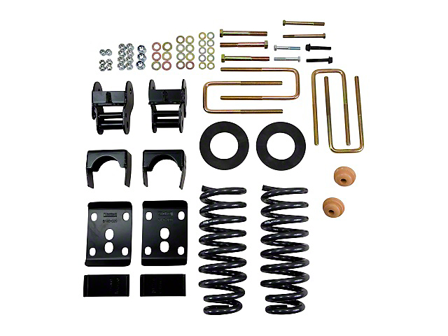 Belltech Stage 1 Lowering Kit - 2 in. or 3 in. Front / 4 in. Rear (09-13 2WD w/ Short Bed)