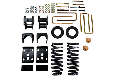 Belltech Stage 1 Lowering Kit w/o Shocks - 2in. or 3in. F / 4in. R drop (09-13 2WD Regular Cab w/ 6.5 ft. Bed)