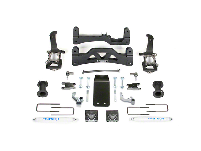 Fabtech 6 in. Basic Lift System w/ Performance Shocks (09-14 4WD SuperCrew, Excluding Raptor)