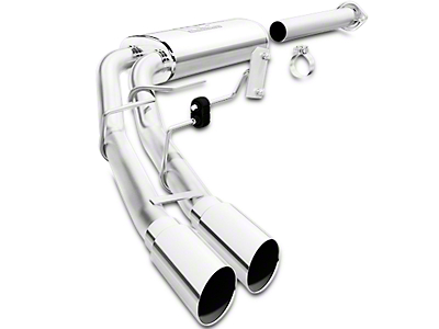 Magnaflow MF Series Cat-Back Exhaust - Dual Side Exit - Before Rear Tire (15-18 5.0L)