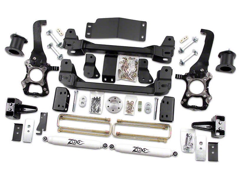 Zone Offroad 4 in. Suspension Lift Kit w/ Shocks (2014 4WD, Excluding Raptor)