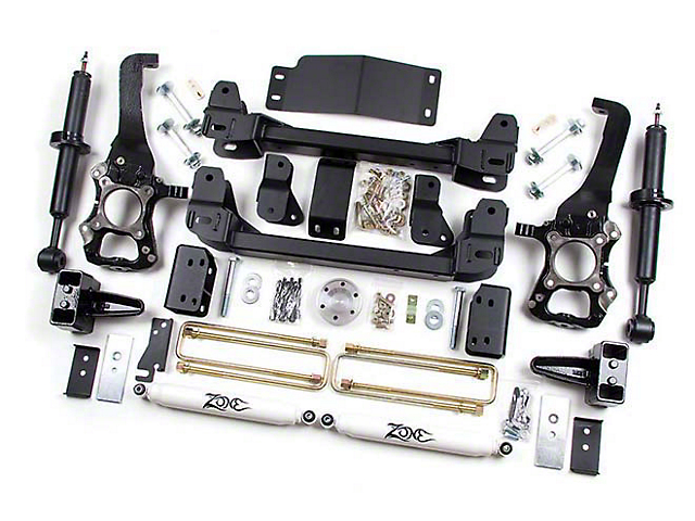 Zone Offroad 6 in. Suspension Lift Kit w/ Shocks (09-13 2WD/4WD, Excluding Raptor)
