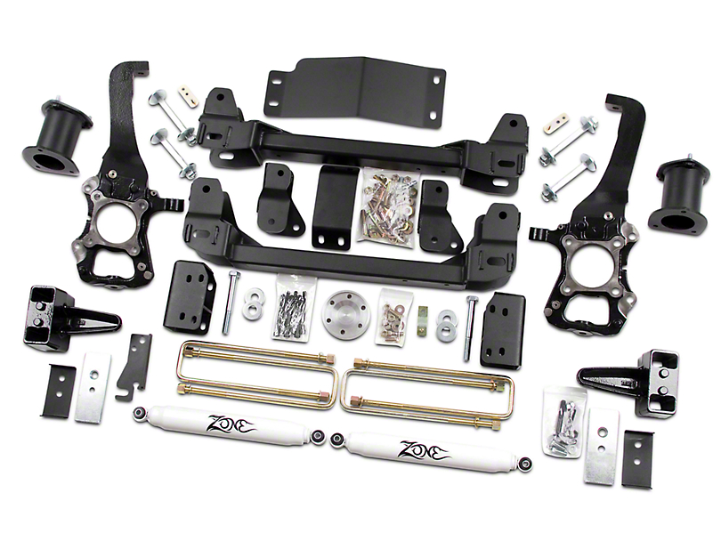 Zone Offroad 6 in. Suspension Lift Kit w/ Shocks (2014 2WD/4WD, Excluding Raptor)