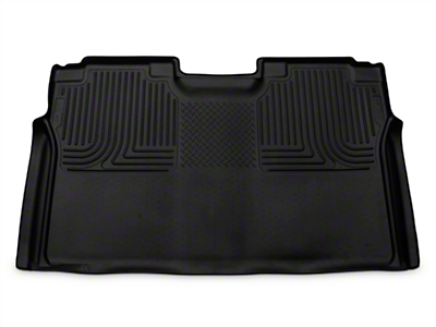 Husky WeatherBeater 2nd Seat Floor Liner - Full Coverage - Black (15-18 SuperCab, SuperCrew)