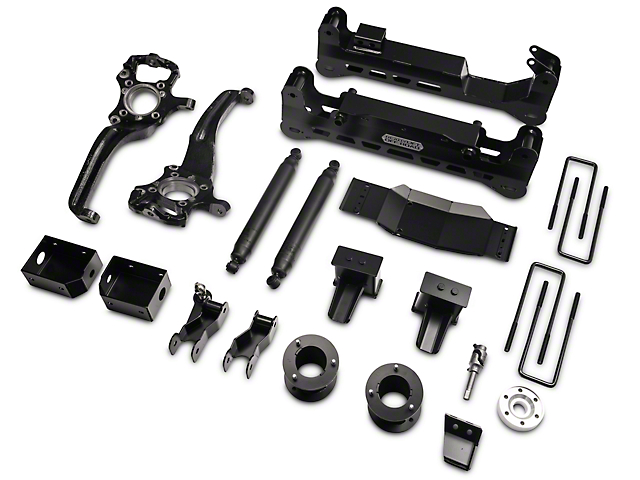 ReadyLIFT 7 in. Off Road Lift Kit w/ SST3000 Shocks - Black (15-18 4WD F-150, Excluding Raptor)
