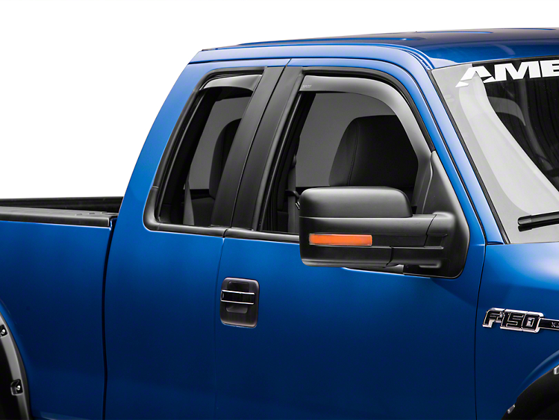 Weathertech Front & Rear Side Window Deflectors - Dark Smoke (09-14 SuperCab, SuperCrew)