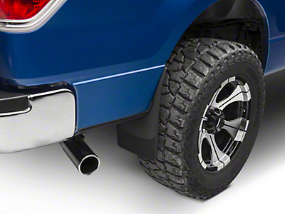 Weathertech No Drill Rear MudFlaps - Black (04-14 w/out Fender Flares; Excluding Raptor)