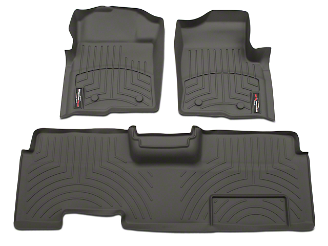 Weathertech DigitalFit Front & Rear Floor Liners - Gray (09-14 F-150 SuperCab, SuperCrew)