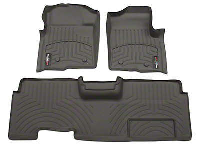 Weathertech DigitalFit Front & Rear Floor Liners - Gray (09-14 SuperCab, SuperCrew)