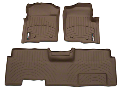 Weathertech DigitalFit Front & Rear Floor Liners - Tan (09-14 F-150 SuperCab, SuperCrew)