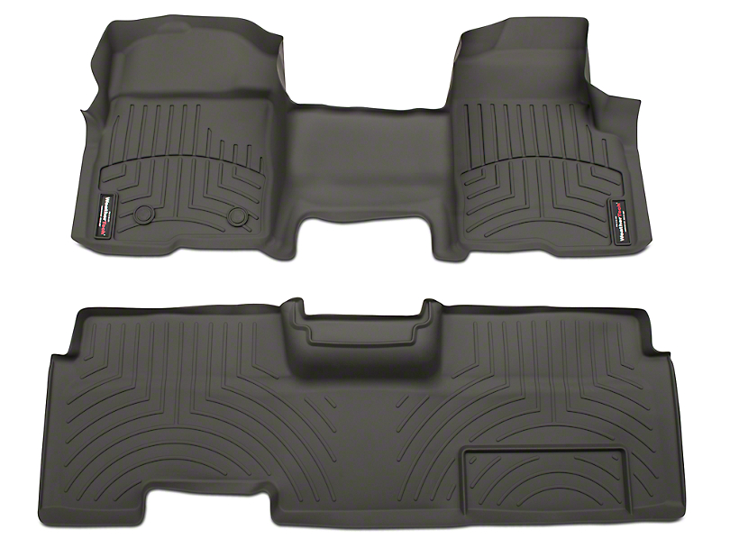 Weathertech DigitalFit Front & Rear Floor Liners - Over The Hump - Gray (09-14 F-150 SuperCab, SuperCrew)