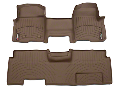 Weathertech DigitalFit Front & Rear Floor Liners - Over The Hump - Tan (09-14 SuperCab, SuperCrew)