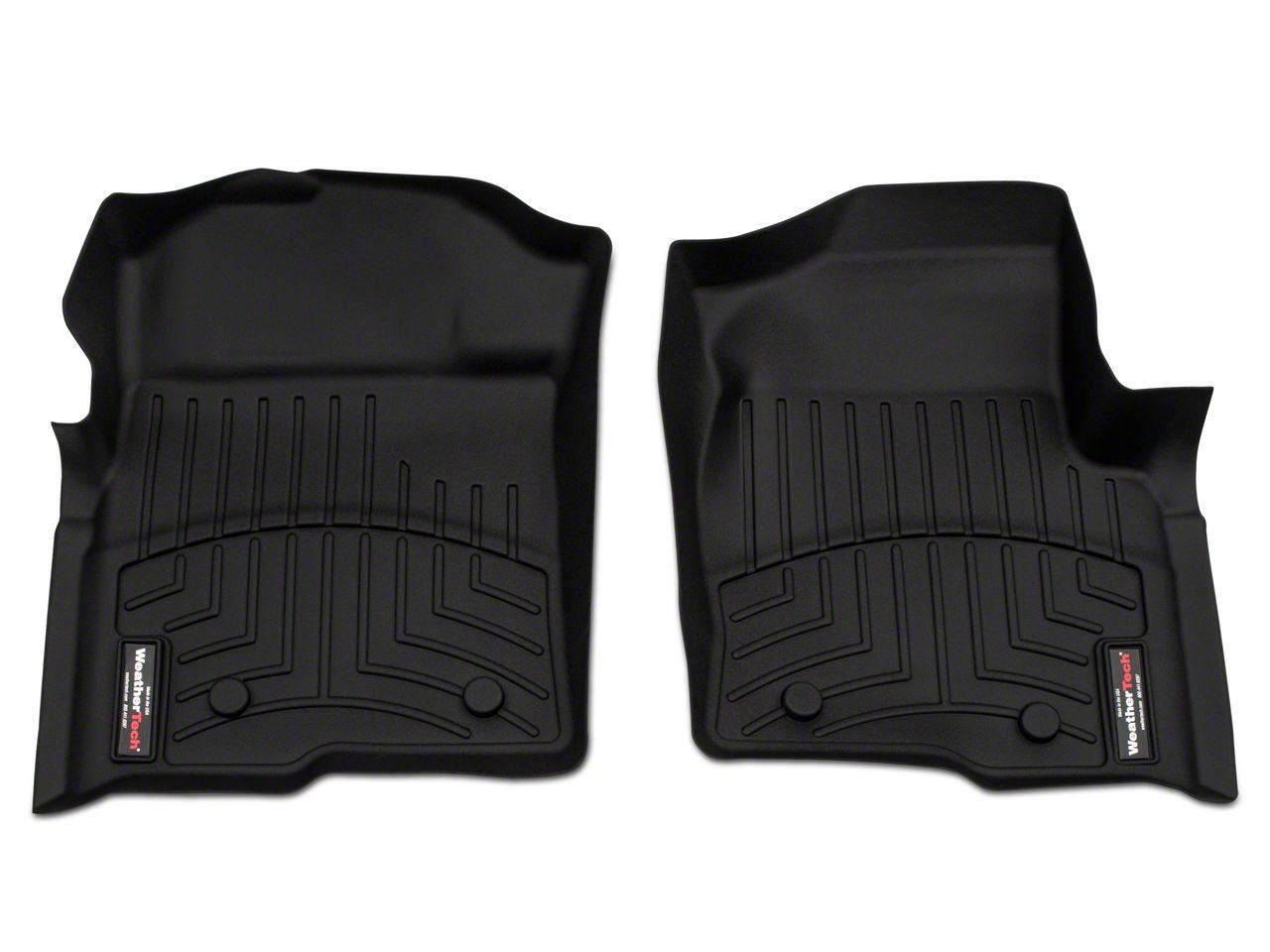 Weathertech DigitalFit Front Floor Liner - Black (09-14 F-150 w/ Dual Floor Post & Underseat Heat Duct)