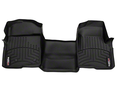 Weathertech DigitalFit Front Floor Liner - Over The Hump - Black (09-14 SuperCab, SuperCrew)