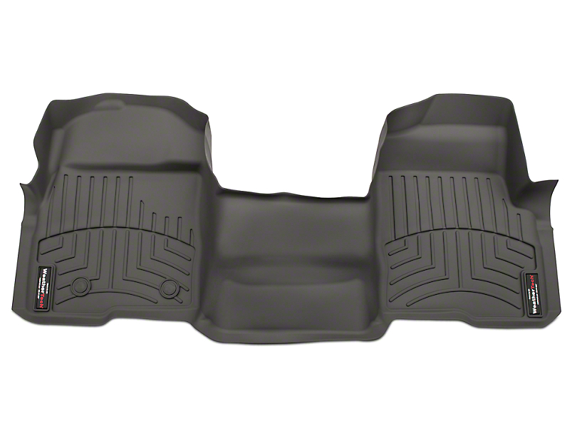Weathertech DigitalFit Front Floor Liner - Over The Hump - Gray (09-14 F-150 SuperCab, SuperCrew)
