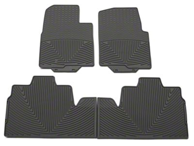 Weathertech All Weather Front and Rear Rubber Floor Mats - Gray (09-10 F-150 SuperCab w/ Single Retention Hook)