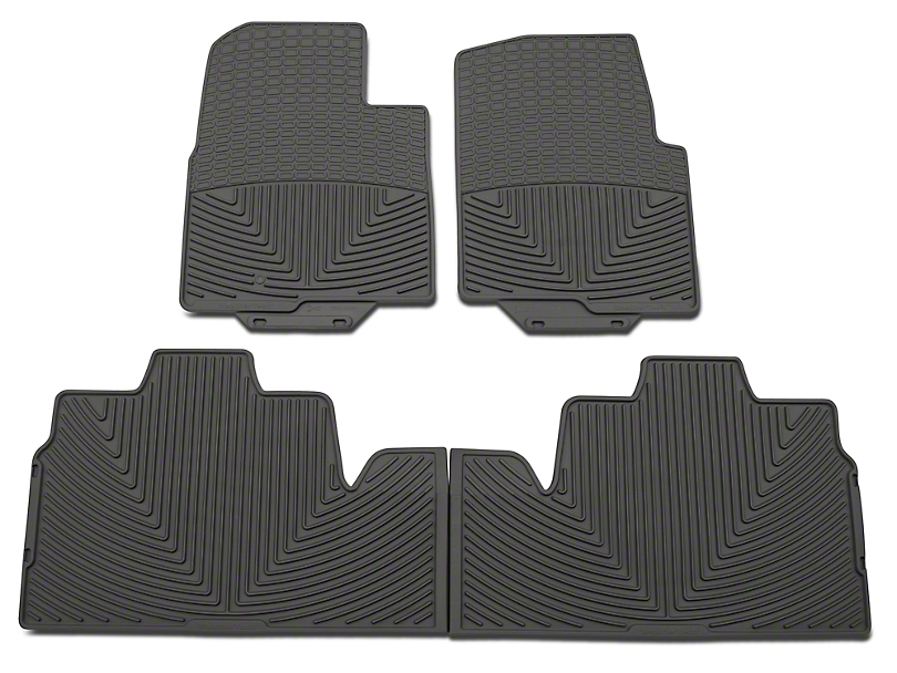 Weathertech All Weather Front & Rear Rubber Floor Mats - Gray (09-10 SuperCab, SuperCrew w/ Single Floor Post)