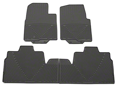 Weathertech All Weather Front & Rear Rubber Floor Mats - Gray (09-10 F-150 SuperCab, SuperCrew w/ Single Floor Post)