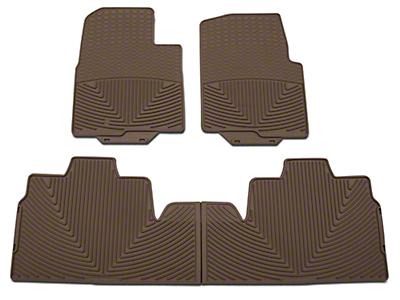 Weathertech All Weather Front & Rear Rubber Floor Mats - Tan (09-10 SuperCab, SuperCrew w/ Single Floor Post)