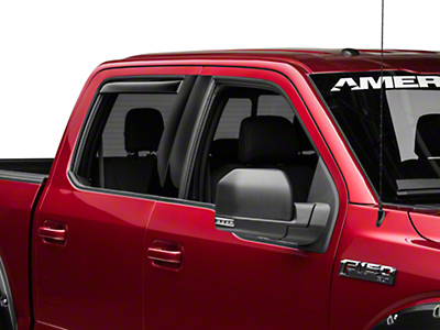 Weathertech Rear Side Window Deflectors - Dark Smoke (15-18 SuperCab, SuperCrew)