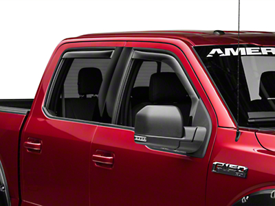 Weathertech Front & Rear Side Window Deflectors - Light Smoke (15-18 F-150 SuperCab, SuperCrew)