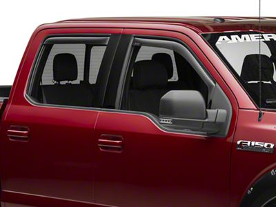 Weathertech Front & Rear Side Window Deflectors - Dark Smoke (15-19 F-150 SuperCrew)