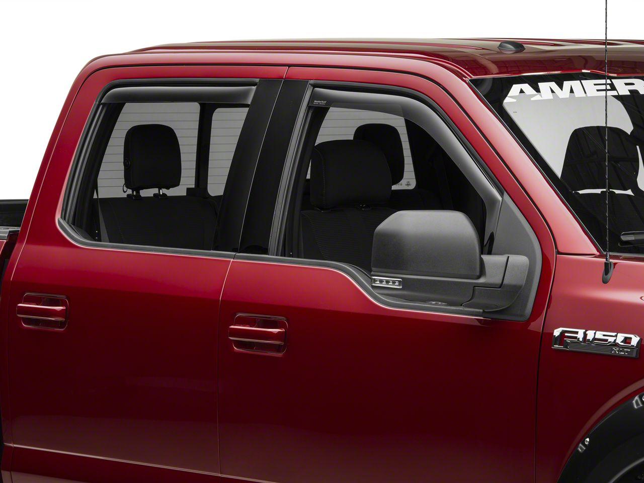 Weathertech Front & Rear Side Window Deflectors - Dark Smoke (15-19 F-150 SuperCrew)
