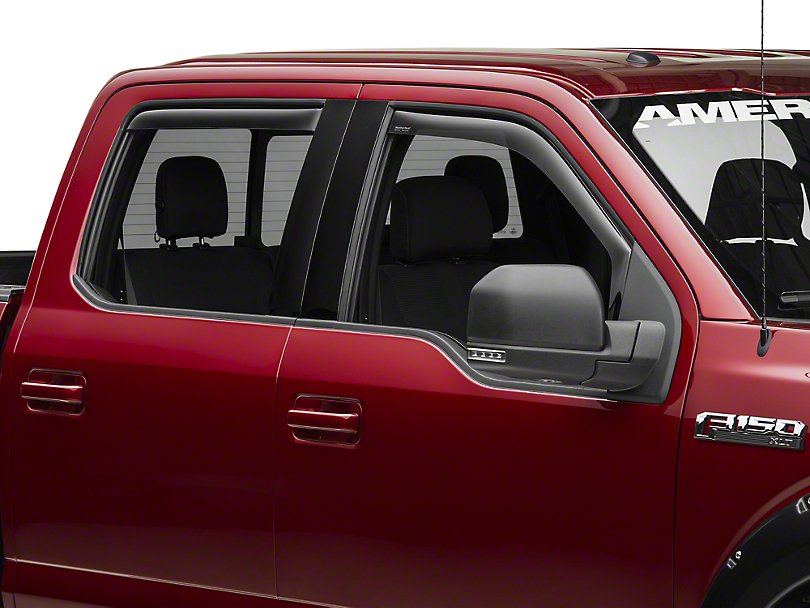 Weathertech Front & Rear Side Window Deflectors - Dark Smoke (15-18 F-150 SuperCab, SuperCrew)