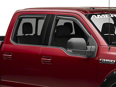 Weathertech Front & Rear Side Window Deflectors - Dark Smoke (15-19 F-150 SuperCab, SuperCrew)