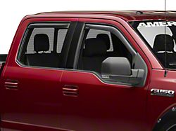 Weathertech Window Deflectors; Front and Rear; Dark Smoke (15-20 F-150 SuperCrew)