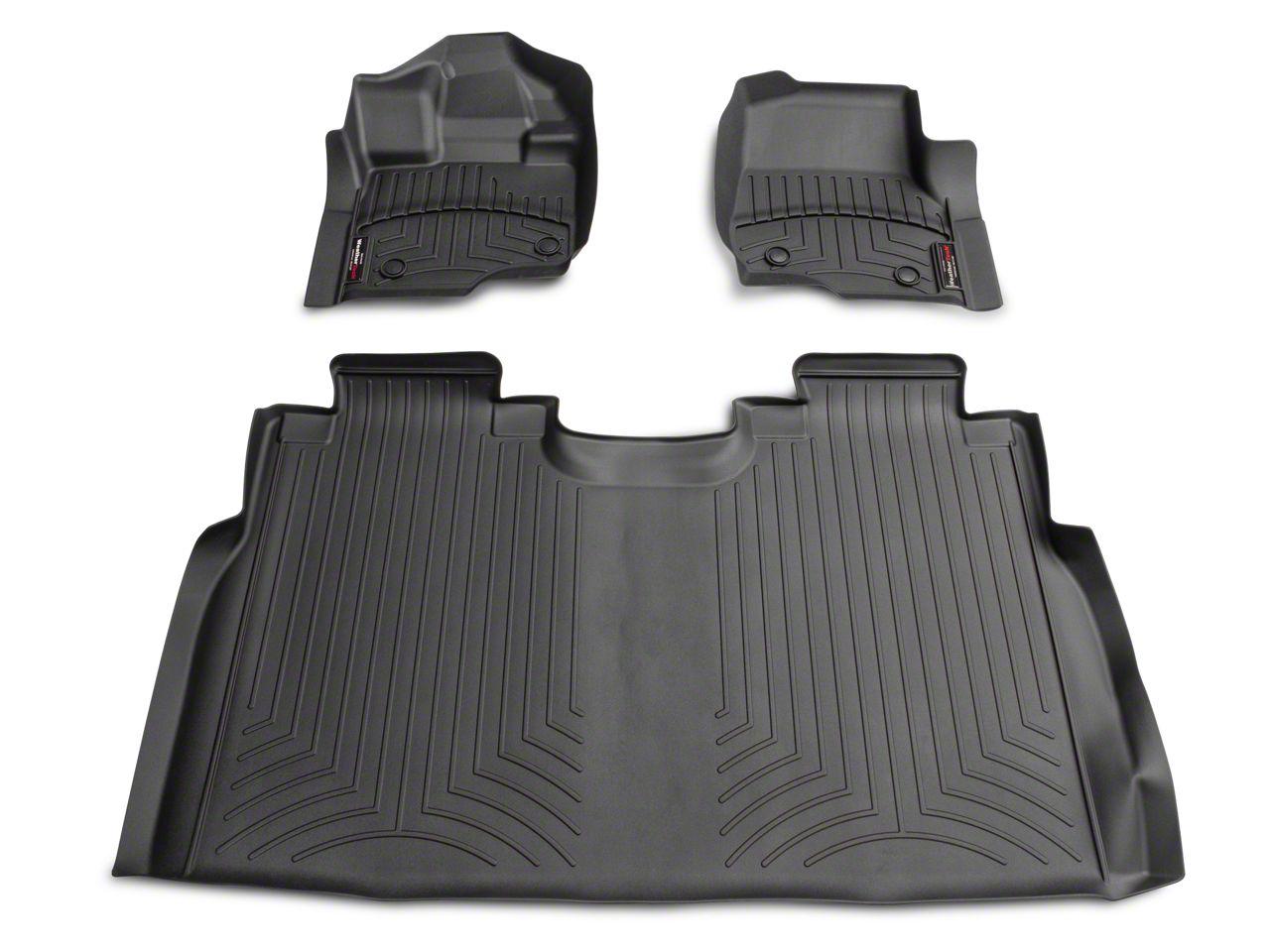 Weathertech DigitalFit Front & Rear Floor Liners - Black (15-19 F-150 SuperCrew w/ bucket seats)