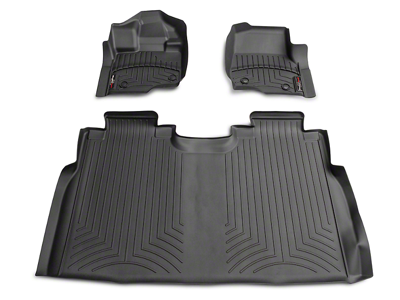 Weathertech DigitalFit Front & Rear Floor Liners - Black (15-17 SuperCab, SuperCrew)