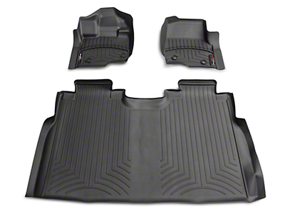 Weathertech DigitalFit Front & Rear Floor Liners - Black (15-18 F-150 SuperCab, SuperCrew)