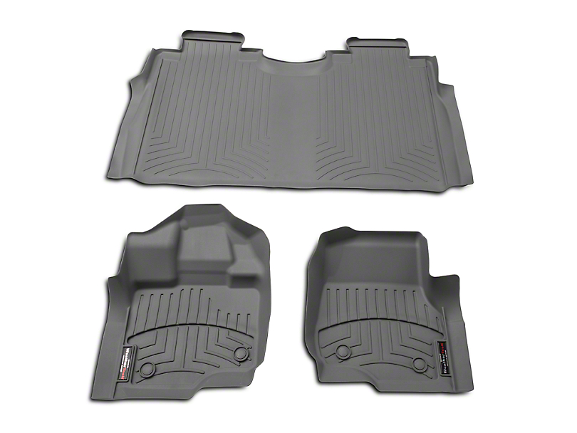 Weathertech DigitalFit Front & Rear Floor Liners - Gray (15-17 SuperCab, SuperCrew)