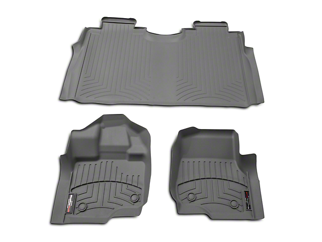 Weathertech DigitalFit Front & Rear Floor Liners - Gray (15-18 SuperCab, SuperCrew)