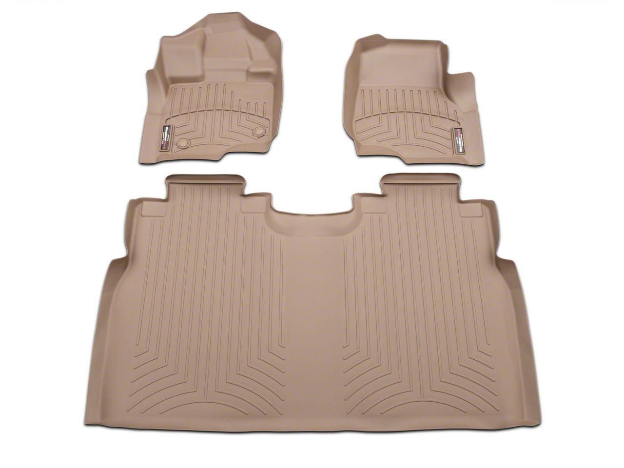 Weathertech DigitalFit Front & Rear Floor Mats - Tan (15-19 F-150 SuperCrew w/ bucket seats)