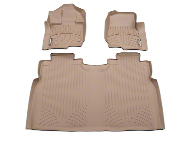 Weathertech DigitalFit Front & Rear Floor Liners - Tan (15-18 SuperCab, SuperCrew)