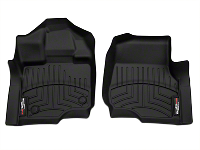 Weathertech DigitalFit Front Floor Liners - Black (15-17 SuperCab, SuperCrew)