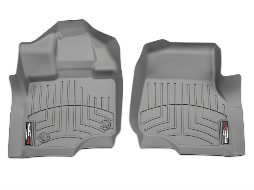 Weathertech DigitalFit Front Floor Liners - Gray (15-17 SuperCab, SuperCrew)