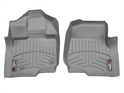 Weathertech DigitalFit Front Floor Liners - Gray (15-18 F-150 SuperCab, SuperCrew)