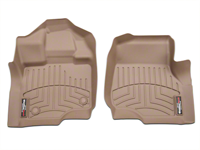 Weathertech DigitalFit Front Floor Liners - Tan (15-18 SuperCab, SuperCrew)