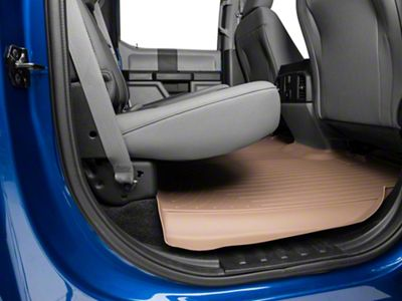 Weathertech DigitalFit Rear Floor Mat - Tan (15-19 F-150 SuperCrew w/ 1st row bucket seats)