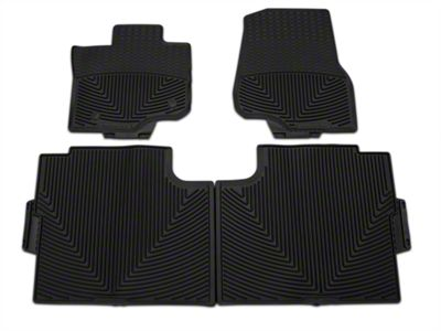 Weathertech All Weather Front and Rear Rubber Floor Mats - Black (15-19 F-150 SuperCrew)