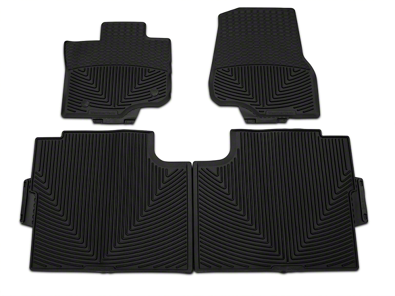 Weathertech All Weather Front & Rear Rubber Floor Mats - Black (15-18 F-150 SuperCab, SuperCrew)