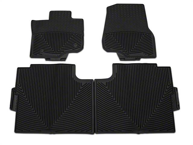 Weathertech All Weather Front & Rear Rubber Floor Mats - Black (15-17 SuperCab, SuperCrew)