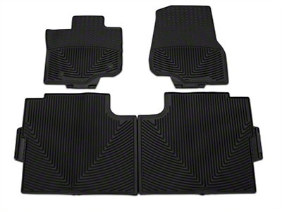 Weathertech All Weather Front & Rear Rubber Floor Mats - Black (15-19 F-150 SuperCab, SuperCrew)