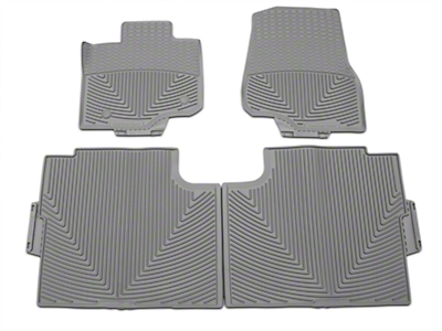Weathertech All Weather Front & Rear Rubber Floor Mats - Gray (15-18 F-150 SuperCab, SuperCrew)