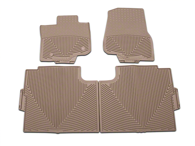 Weathertech All Weather Front & Rear Rubber Floor Mats - Tan (15-18 SuperCab, SuperCrew)
