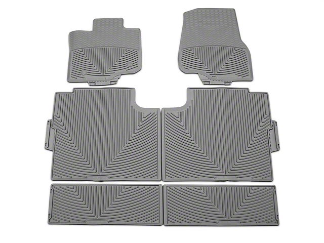 Weathertech All Weather Front, Rear, & Under Rear Seat Rubber Floor Mats - Gray (15-18 SuperCrew)