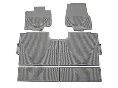 Weathertech All Weather Front, Rear, & Under Rear Seat Rubber Floor Mats - Gray (15-17 SuperCrew)